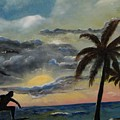 Surfers Sunset by Roberta Martin