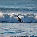 Surfing At Hampton Nh by Jo-Ann Matthews