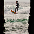 Surfing By The Pier by Nicole Swanger