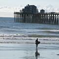 Surfing In San Clemente by John Loyd Rushing