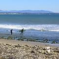 Surfing In Ventura Ca by Robin Hernandez