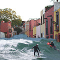 Surfing Quebrada by John  Kolenberg