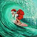 Surfing Santa by Darice Machel McGuire