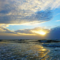 St. Augustine Beach Sunrise Surf by Phil King