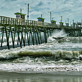 Surge Under The Pier by Kelley Freel-Ebner