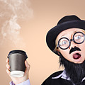 Surprised Business Person High On Coffee by Jorgo Photography - Wall Art Gallery