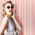 Surprised Girl In Retro Fashion Style Glamur by Jorgo Photography - Wall Art Gallery