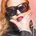 Surprised Young Woman Wearing Fashion Sunglasses by Jorgo Photography - Wall Art Gallery