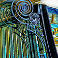 Surreal Reflection And Wrought Iron by Frances Ann Hattier