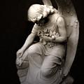 Surreal Sad Angel Kneeling In Prayer by Kathy Fornal
