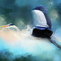 Surreal Stork In A Storm by Georgiana Romanovna