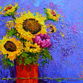 Surrounded By Joy - Modern Floral Impressionist Palette Knife Work by Patricia Awapara