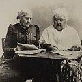 Susan B. Anthony And Elizabeth Cady by Everett