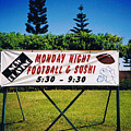 Sushi And Football In Hawaii by Tommy Anderson