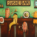Sushi Bar Darker Tone Image by Leah Saulnier The Painting Maniac