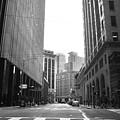Sutter Street - San Francisco Street View Black And White  by Matt Harang