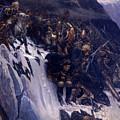 Suvorov Crossing The Alps In 1799 by Vasily Ivanovich Surikov