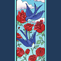 Swallows And Roses by Eleanor Hofer