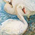 Swan Couple by Alina Ogorodnikova
