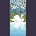 Swan On The River by Eleanor Hofer