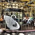 Swan Seat At The Carousel  by Michael Garyet