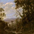 Swanevelt, Herman Van Woerden, 1603 - Paris, 1655 Landscape With Hermit Bound In Chains 1634 - 1639. by SWANEVELT HERMAN VAN Woerden