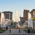 Swann Fountain In The Springtime by Bill Cannon
