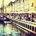 Swans In Nyhavn by Lasse Ansaharju