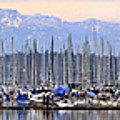 Swantown Marina Olympia Wa by Larry Keahey