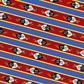 Swaziland Flag 3 by Otis Porritt
