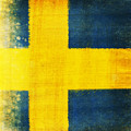 Swedish Flag by Setsiri Silapasuwanchai