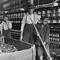 Sweeper And Doffer Boys In Lancaster Cotton Mills by Lewis Hine