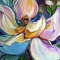 Sweet Magnoli Floral Abstract by Marcia Baldwin
