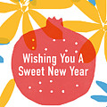 Sweet New Year Card- Art By Linda Woods by Linda Woods