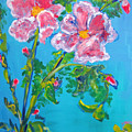 Sweet Pea Flowers On A Vine by Patricia Taylor