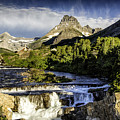 Swiftcurrent Falls Glacier Park 3 by Timothy Hacker