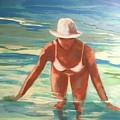 Swimmer In Blue by Anne Carter