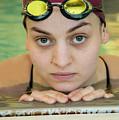 Swimmer Senior Portrait by Jani Freimann