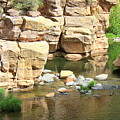 Swimming Hole At Slide Rock by Carol Groenen