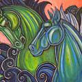 Swimming Horses  by Lynnette Shelley