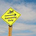 Swimming Sign by Helen Northcott