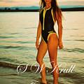 Swimsuit Girl Ad Sunset by Steve Krull