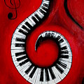 Swirling Piano Keys- Music In Motion by Wayne Cantrell