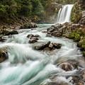 Swirling Waters - Tawhai Falls by Jon Fischer