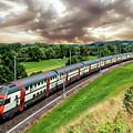 Swiss Passenger Train by Anthony Dezenzio
