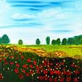 Swiss Poppies by Valerie Ornstein