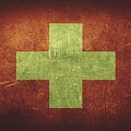 Switzerland Distressed Flag Dehner by T Shirts R Us -