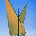 Switzerland, Lake Geneva, Montreux, Sailing Boat by Long Shot