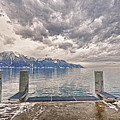 Switzerland, Montreux, Dock On The Lake. by Adriano Bussi