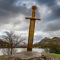 Sword Of Llanberis Snowdonia by Adrian Evans